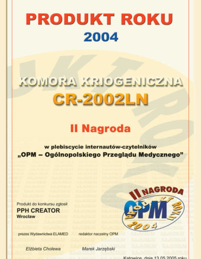 Nagroda Produkt Roku 2004