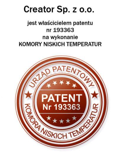 Patent na wykonanie kriokomór